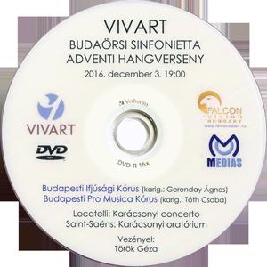 Locatelli: Karácsonyi concerto Saint-Saëns: Karácsonyi oratórium - VIVART Budaörsi Sinfonietta DVD lemeze