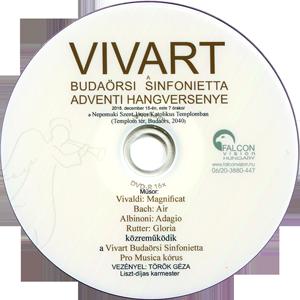 Vivaldi: Magnificat Bach: Air Albinoni: Adagio Rutter: Gloria VIVART Budaörsi Sinfonietta A dventi hangversenye DVD-n